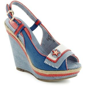 ModCloth Boat Couture Patriotic Wedge Heels